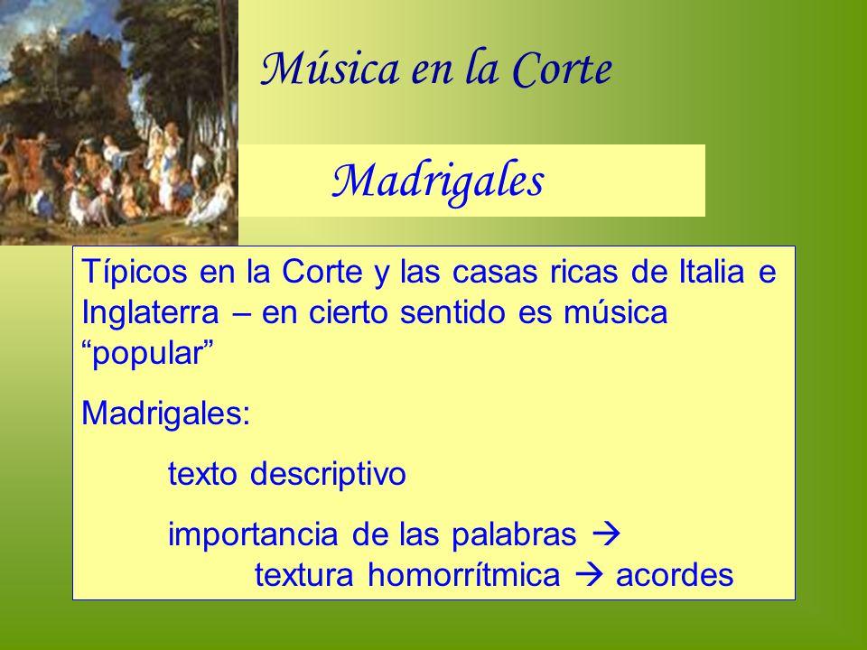 Música en la Corte Madrigales