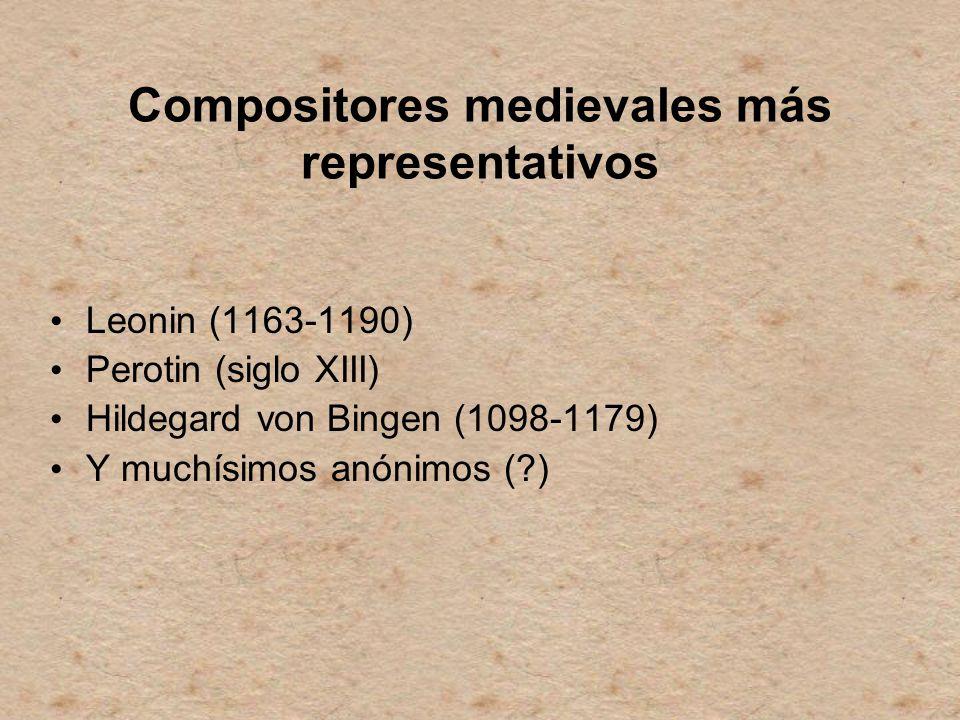 Compositores medievales más representativos