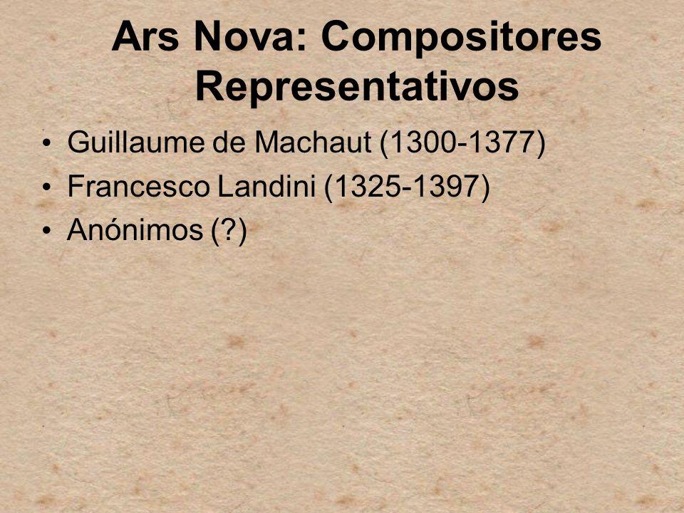 Ars Nova: Compositores Representativos
