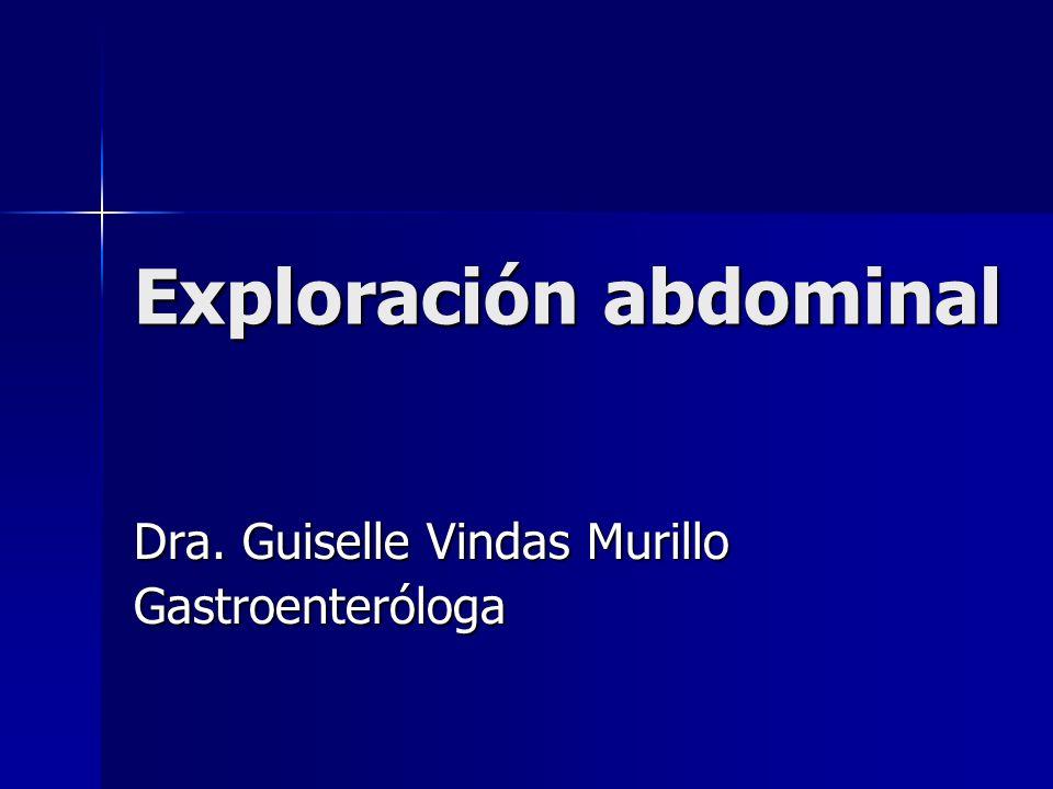 Exploración abdominal