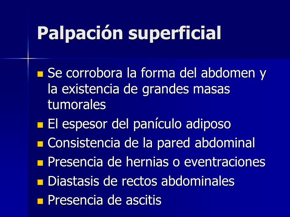 Palpación superficial