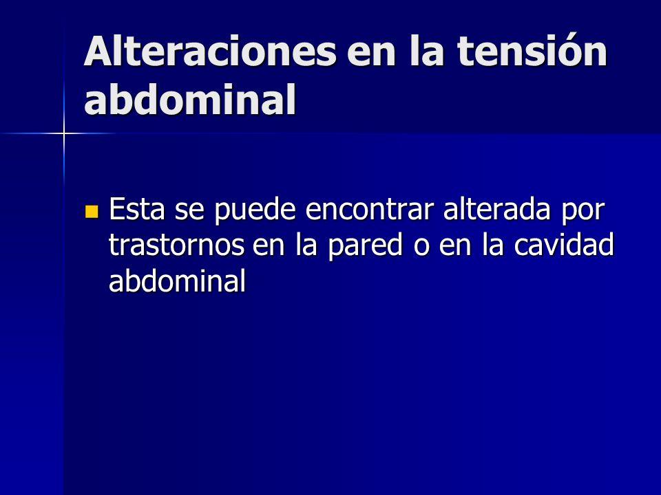 Alteraciones en la tensión abdominal