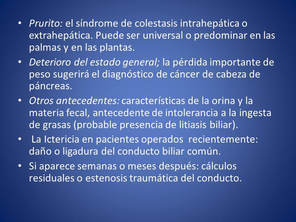Prurito: el síndrome de colestasis intrahepática o extrahepática
