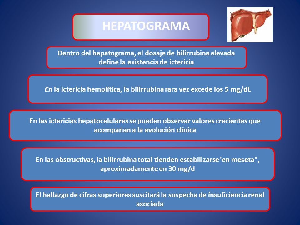 En la ictericia hemolítica, la bilirrubina rara vez excede los 5 mg/dL