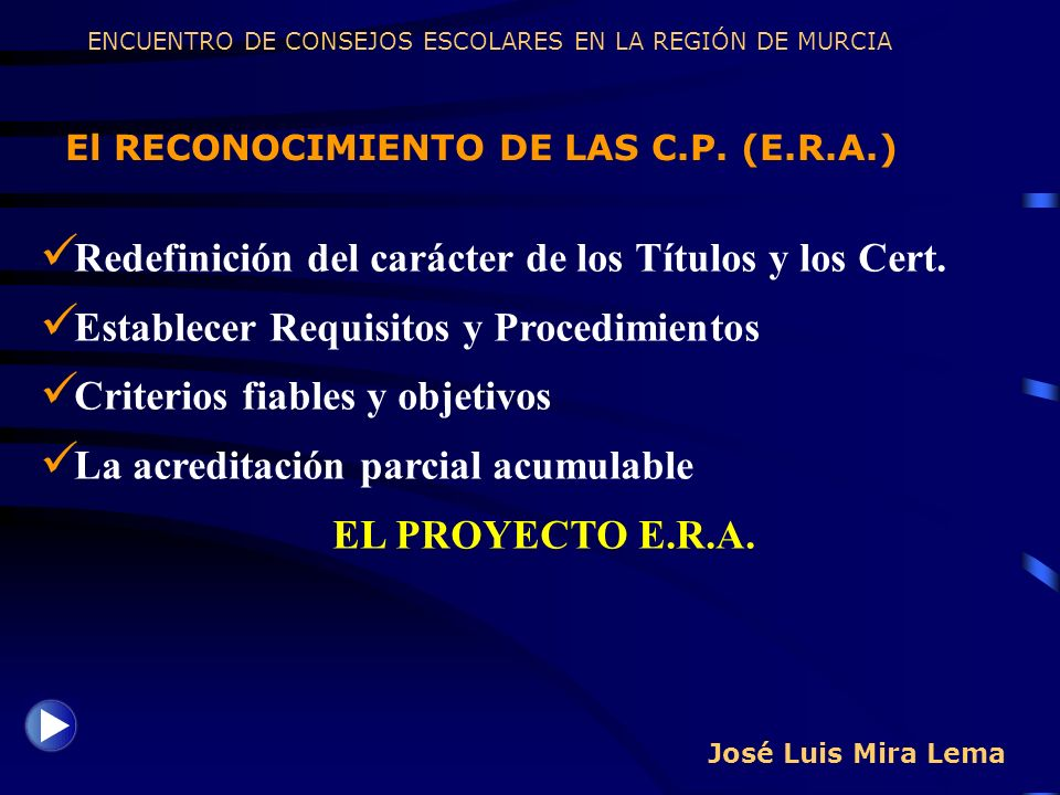 Redefinición del carácter de los Títulos y los Cert.