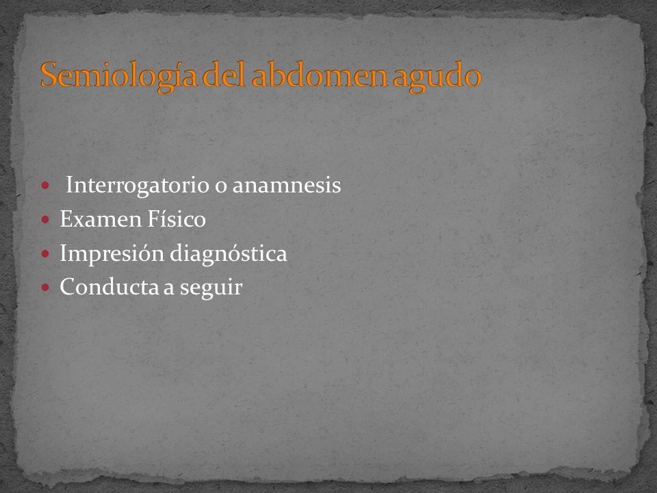 Semiología del abdomen agudo