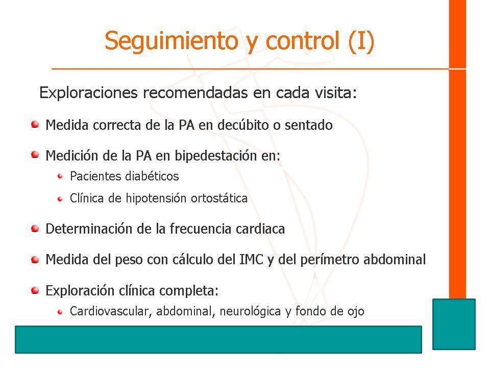 Seguimiento y control (I)