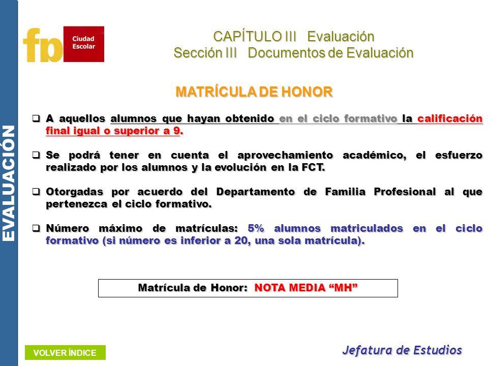 EVALUACIÓN CAPÍTULO III Evaluación