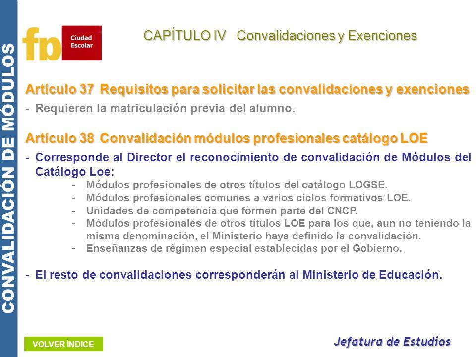 CONVALIDACIÓN DE MÓDULOS