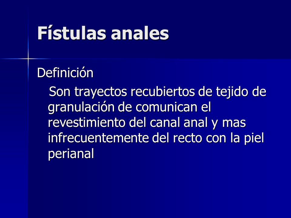Fístulas anales Definición