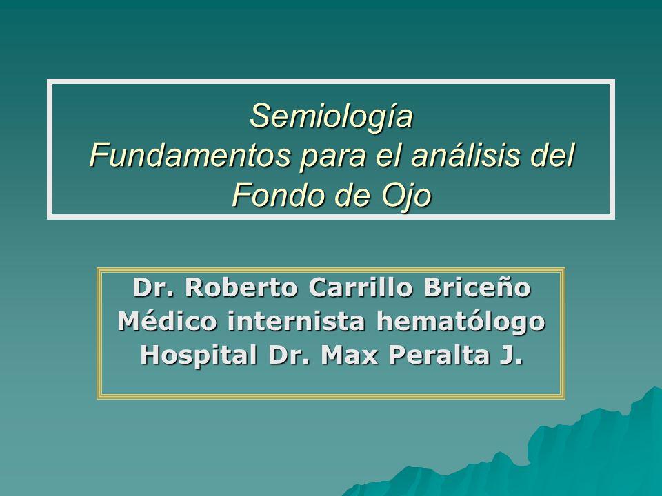 Semiología Fundamentos para el análisis del Fondo de Ojo