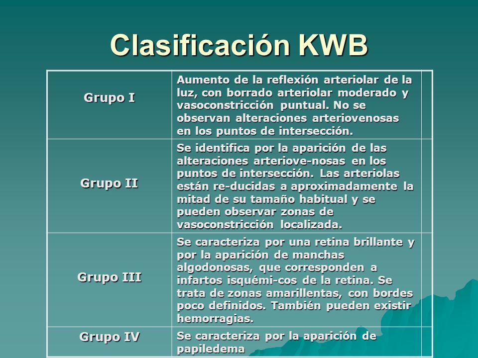 Clasificación KWB Grupo I Grupo II Grupo III Grupo IV