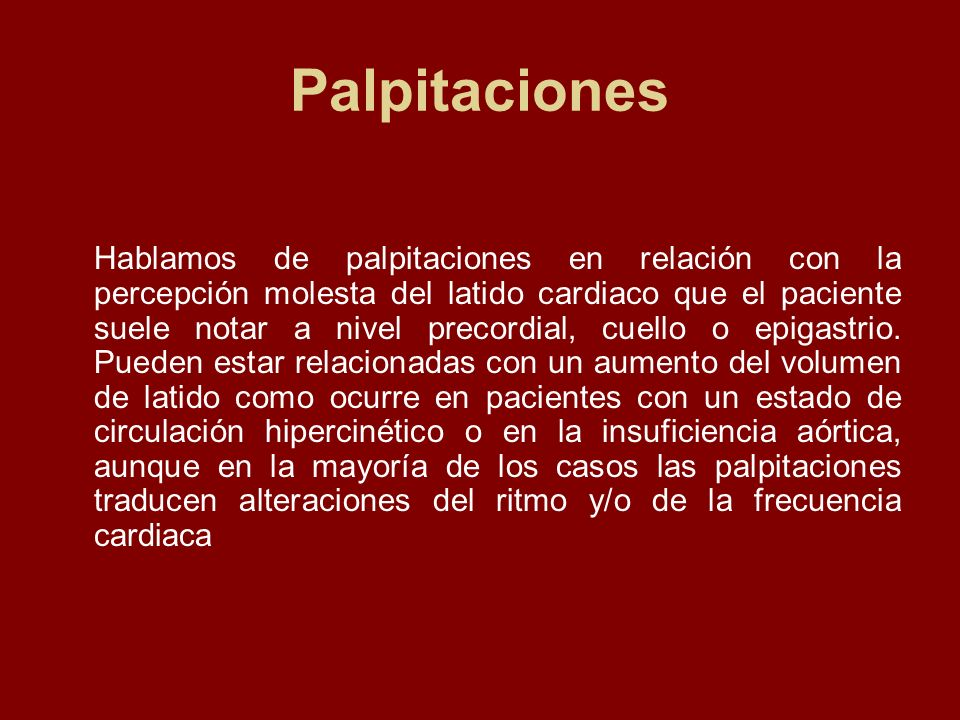 Palpitaciones
