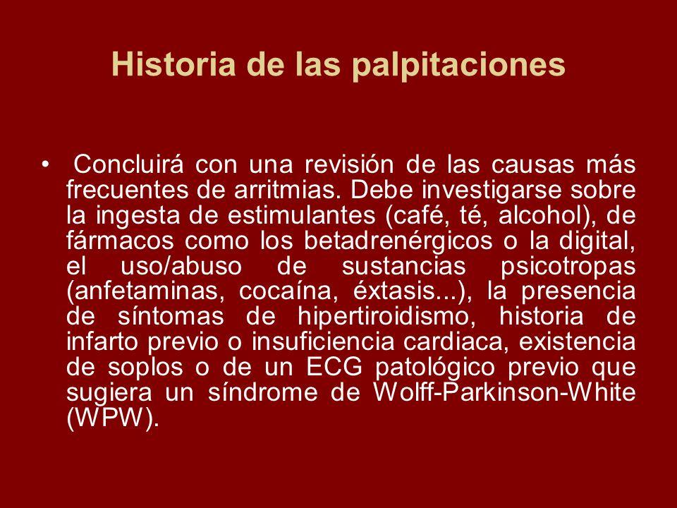 Historia de las palpitaciones
