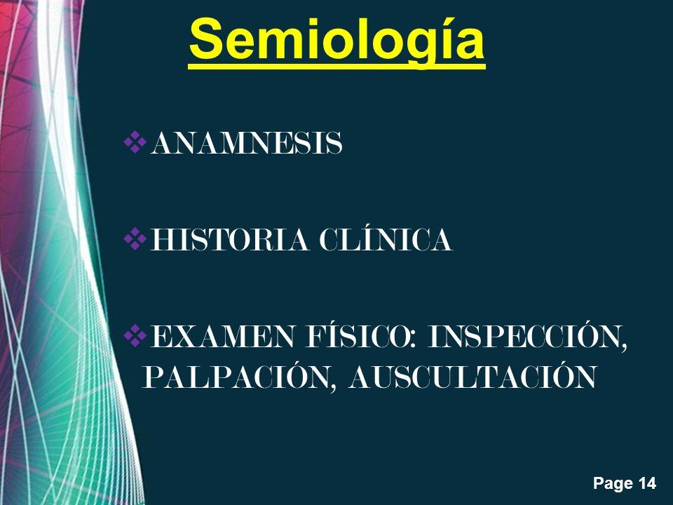 Semiología ANAMNESIS HISTORIA CLÍNICA
