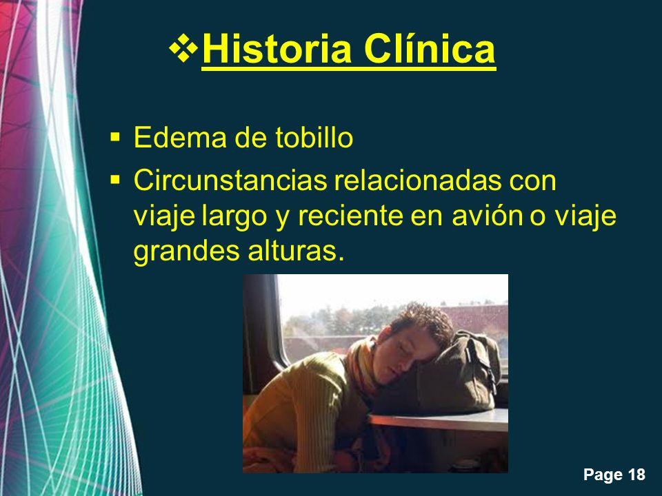 Historia Clínica Edema de tobillo