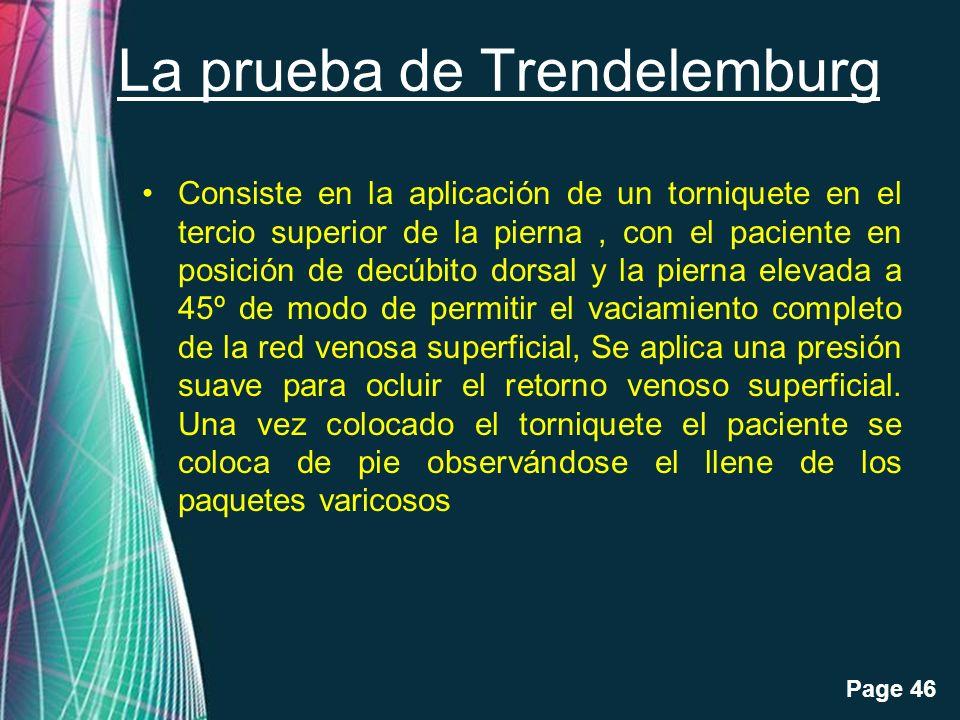 La prueba de Trendelemburg