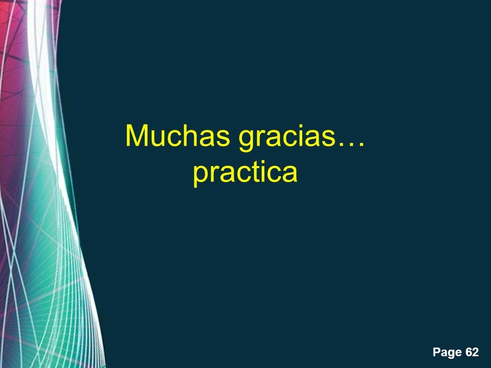 Muchas gracias… practica