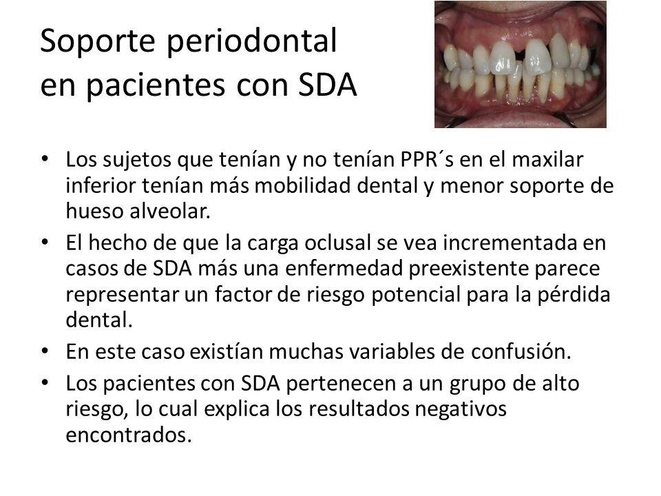 Soporte periodontal en pacientes con SDA