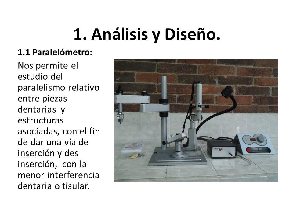 1. Análisis y Diseño. 1.1 Paralelómetro: