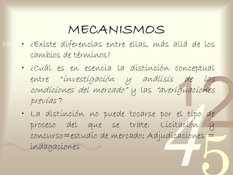 MECANISMOS ¿Existe diferencias entre ellas, más allá de los cambios de términos