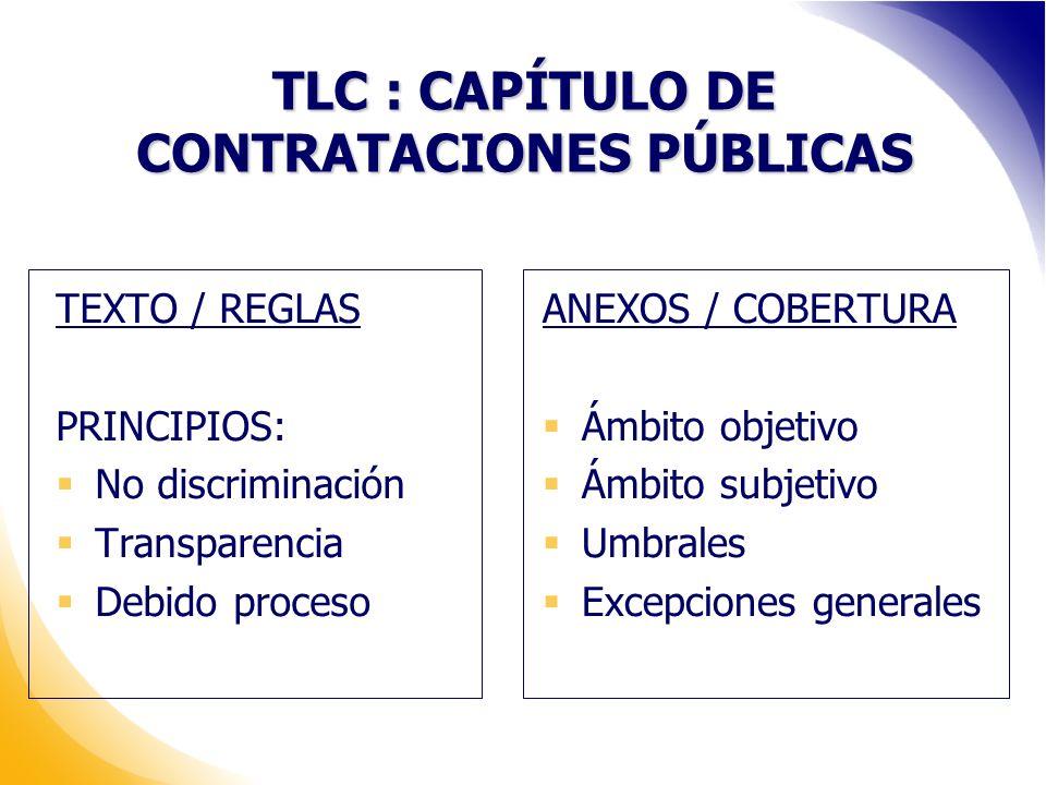 TLC : CAPÍTULO DE CONTRATACIONES PÚBLICAS