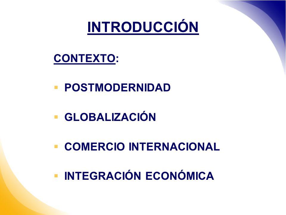 INTRODUCCIÓN CONTEXTO: POSTMODERNIDAD GLOBALIZACIÓN