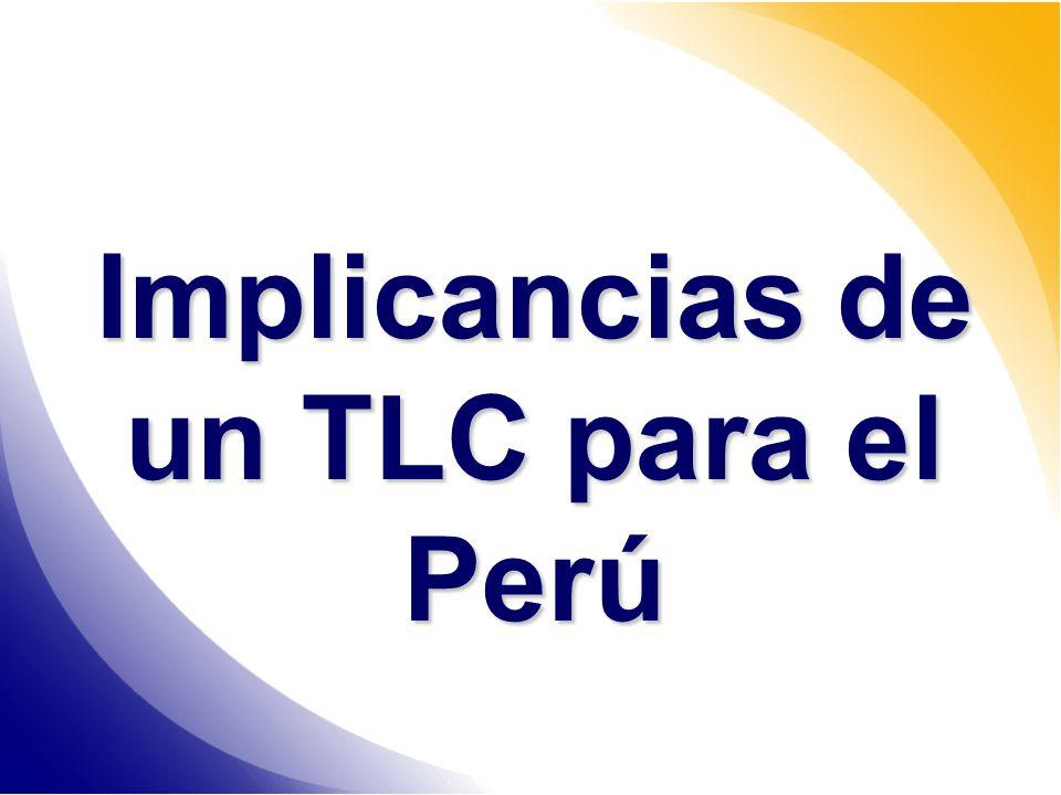Implicancias de un TLC para el Perú