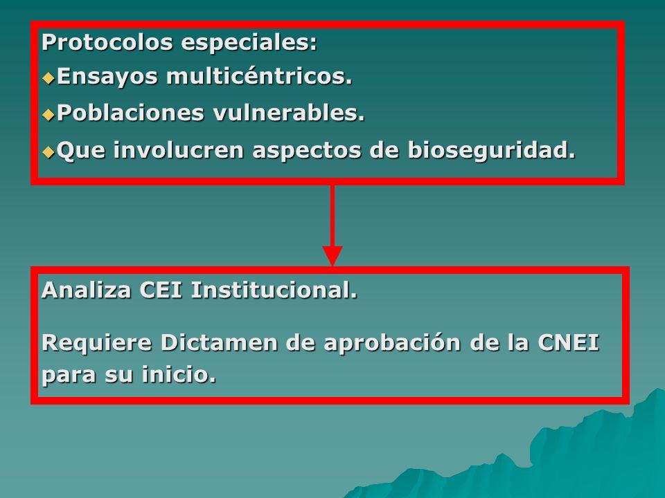 Protocolos especiales: