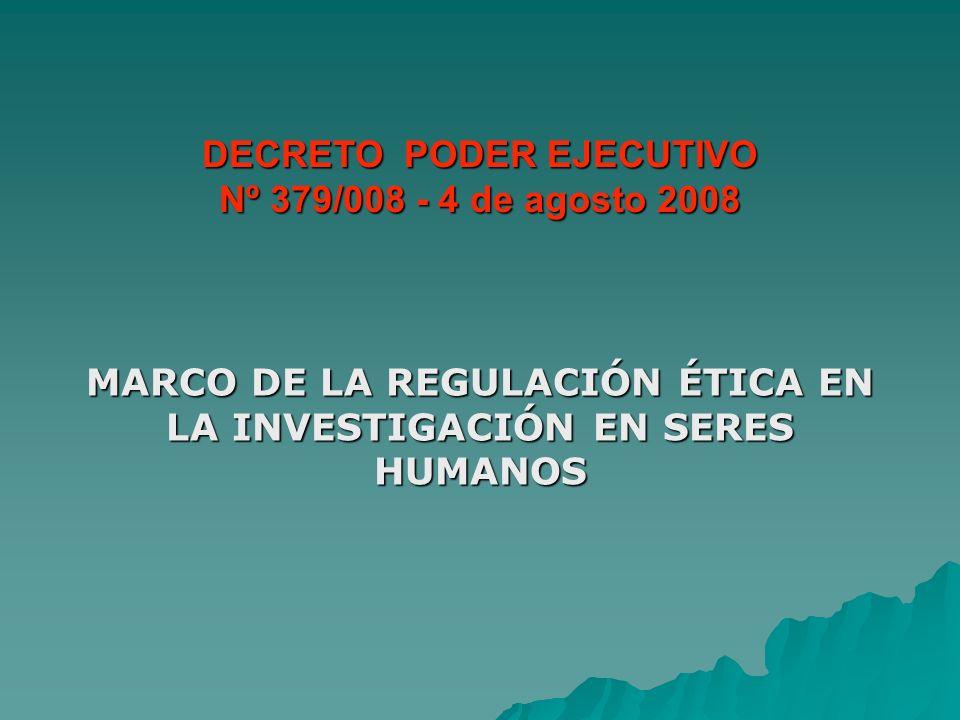 DECRETO PODER EJECUTIVO Nº 379/008 - 4 de agosto 2008
