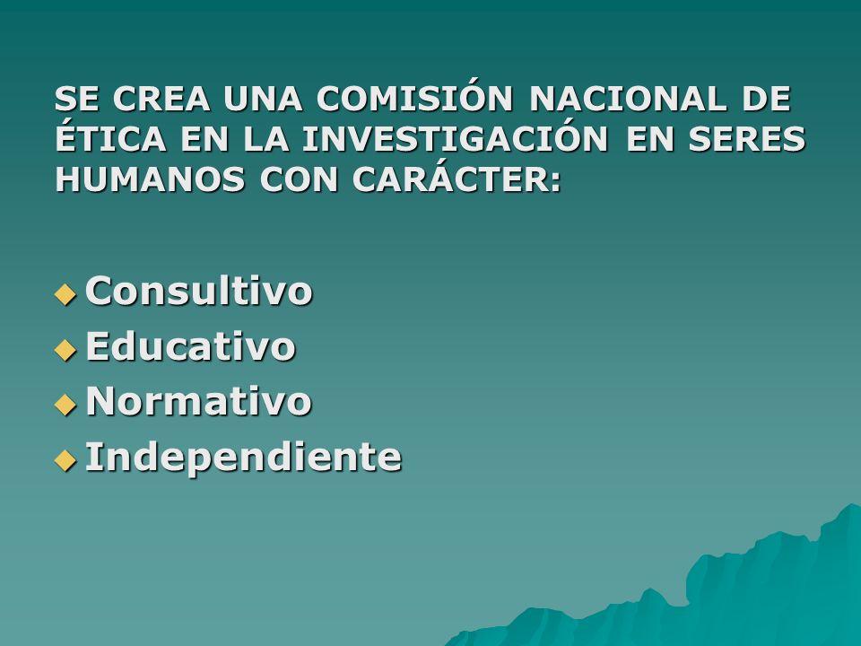 Consultivo Educativo Normativo Independiente