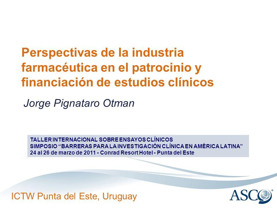 Perspectivas de la industria farmacéutica en el patrocinio y financiación de estudios clínicos