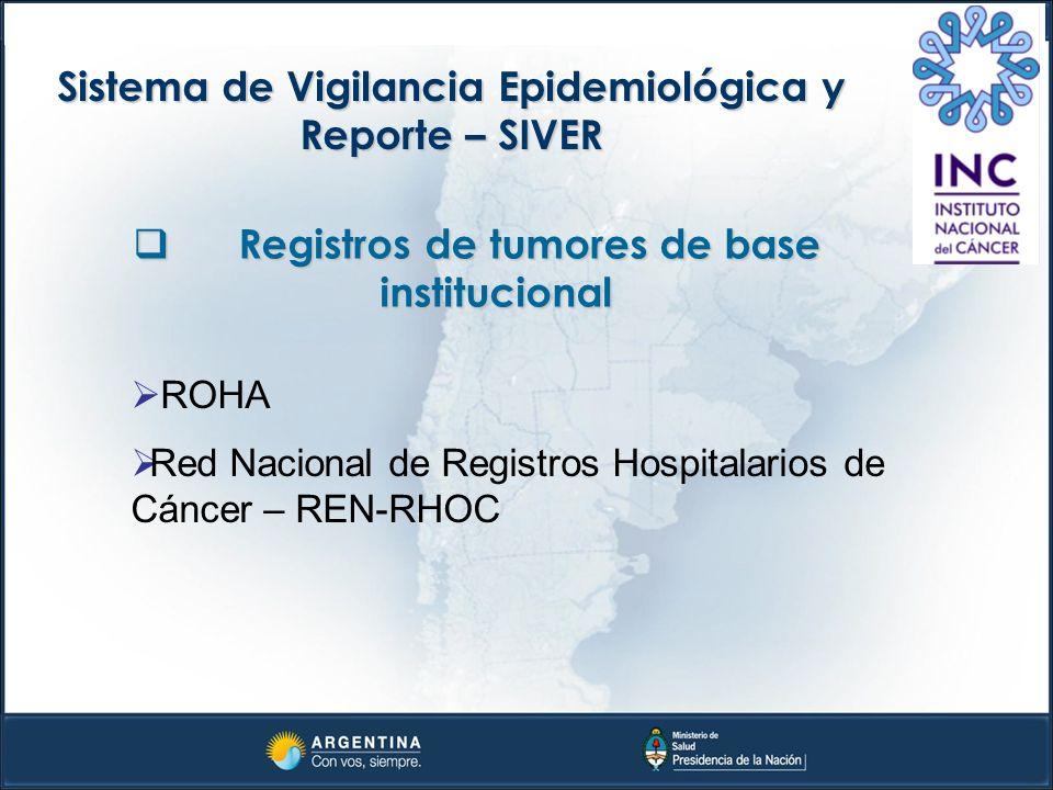 Sistema de Vigilancia Epidemiológica y Reporte – SIVER