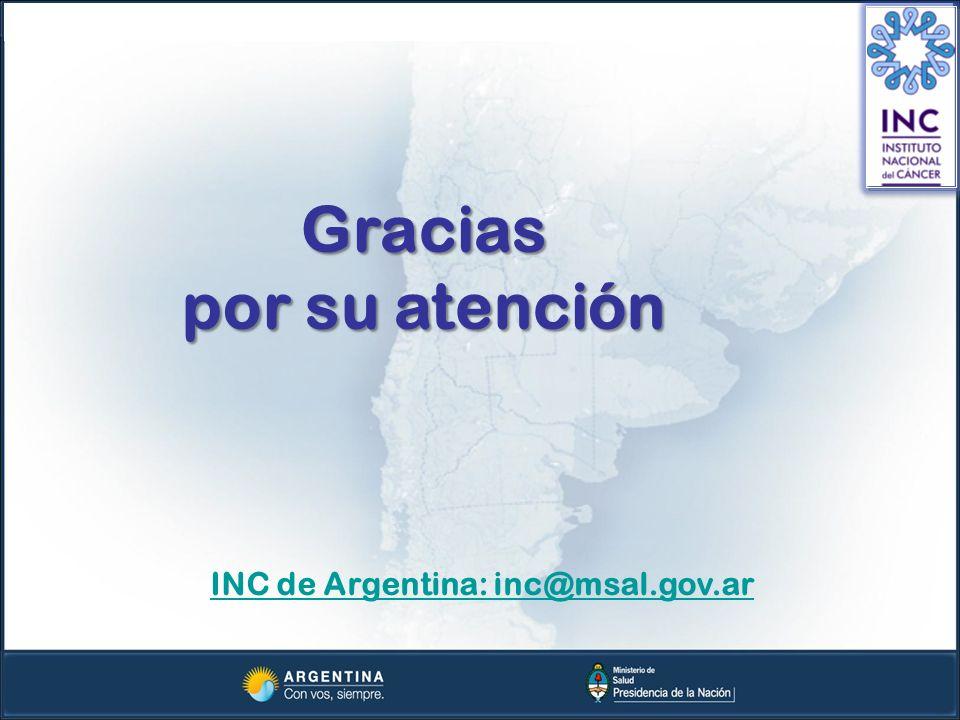 INC de Argentina: inc@msal.gov.ar
