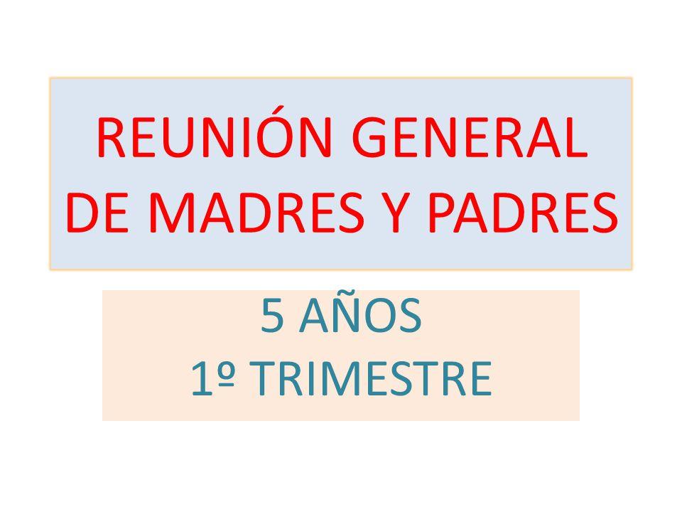 REUNIÓN GENERAL DE MADRES Y PADRES
