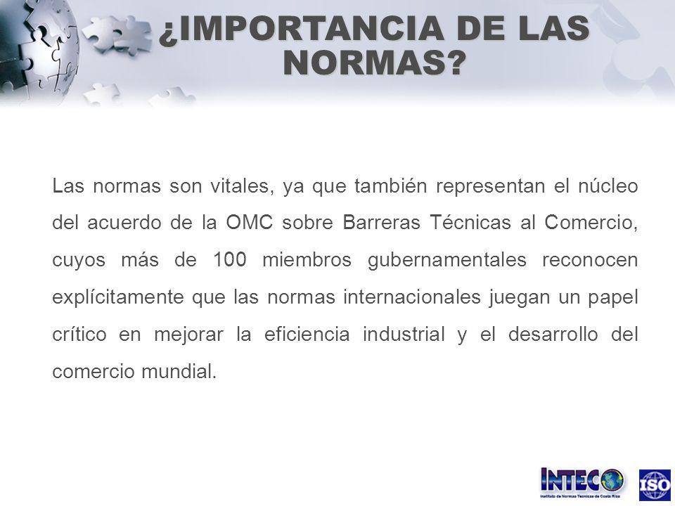 ¿IMPORTANCIA DE LAS NORMAS