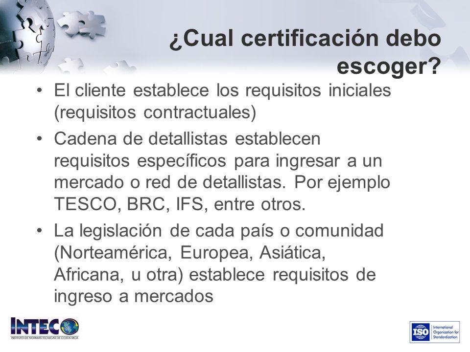 ¿Cual certificación debo escoger