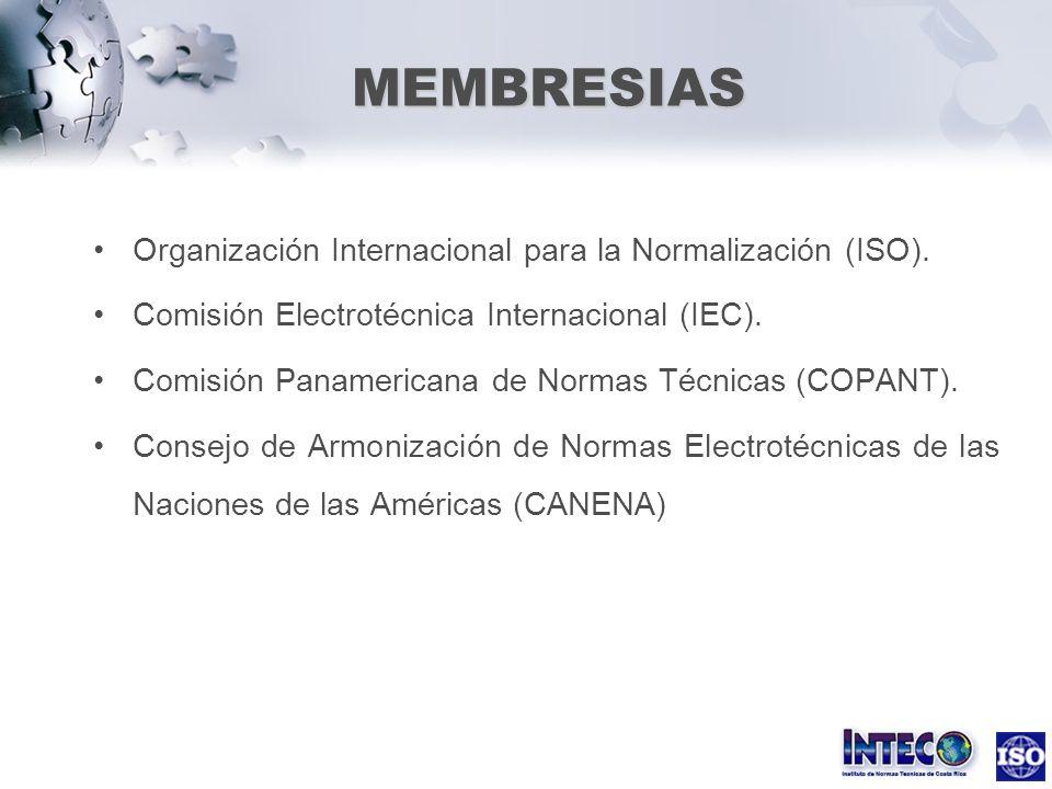 MEMBRESIAS Organización Internacional para la Normalización (ISO).