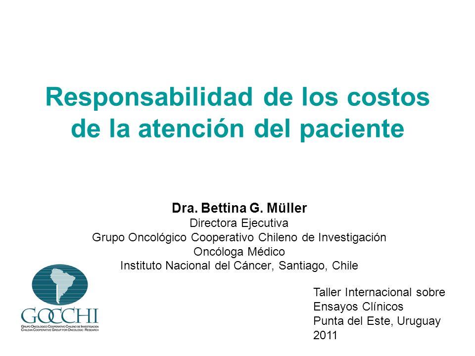 Responsabilidad de los costos de la atención del paciente