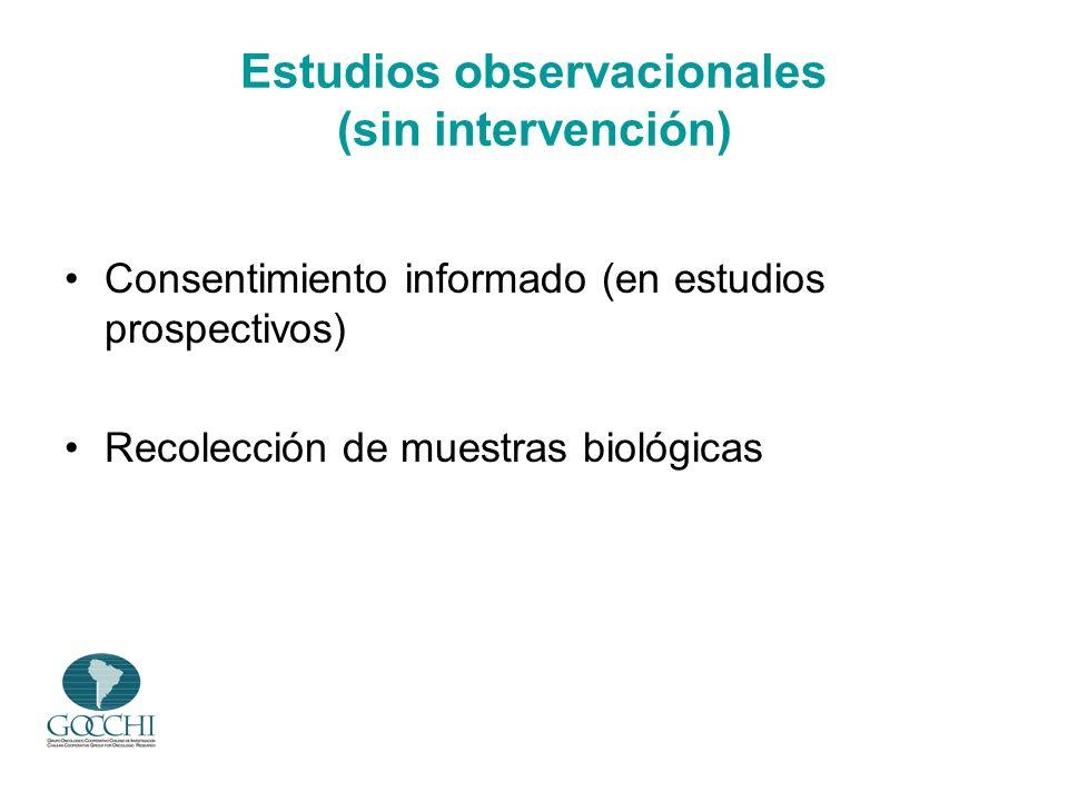 Estudios observacionales (sin intervención)