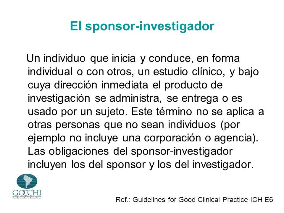 El sponsor-investigador