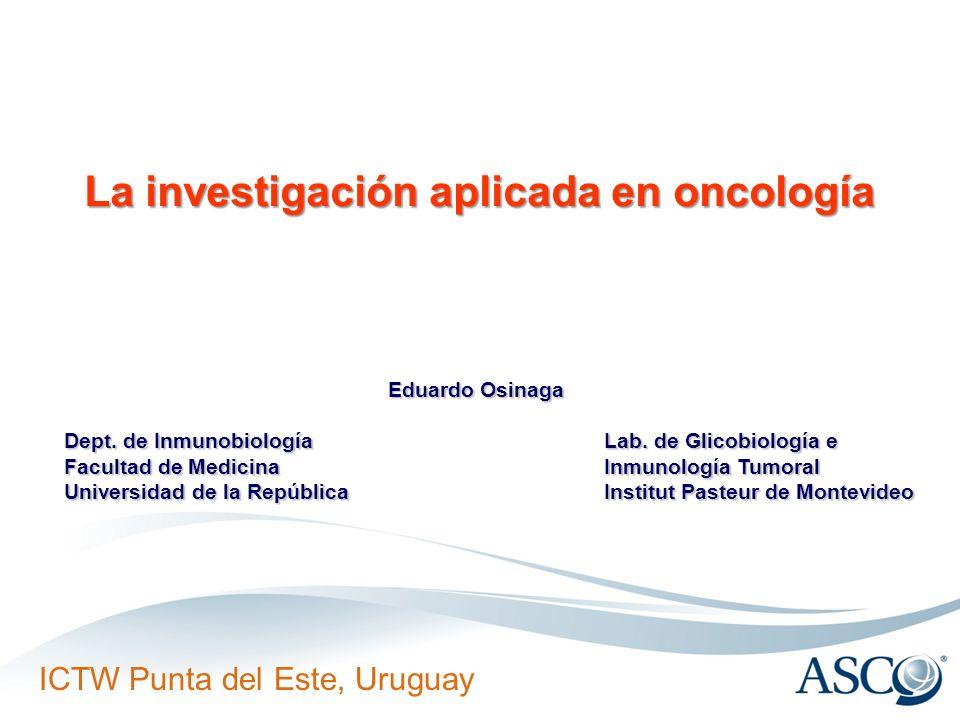 La investigación aplicada en oncología