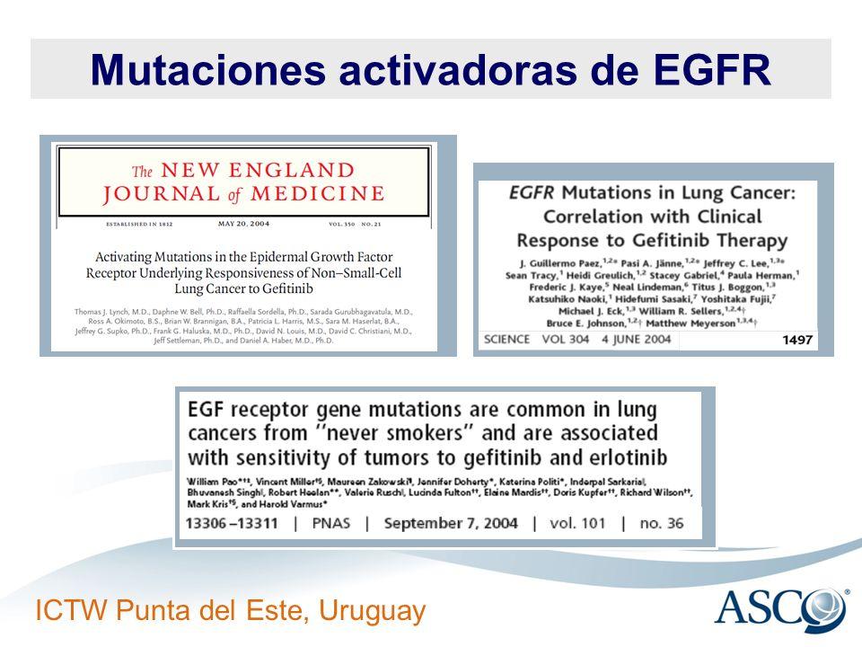 Mutaciones activadoras de EGFR