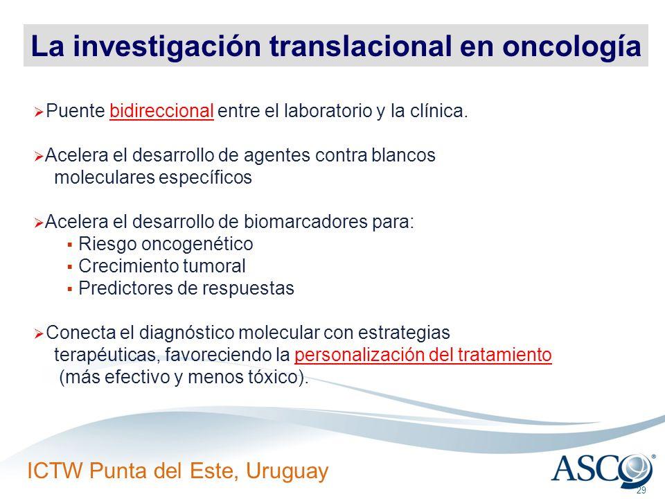 La investigación translacional en oncología