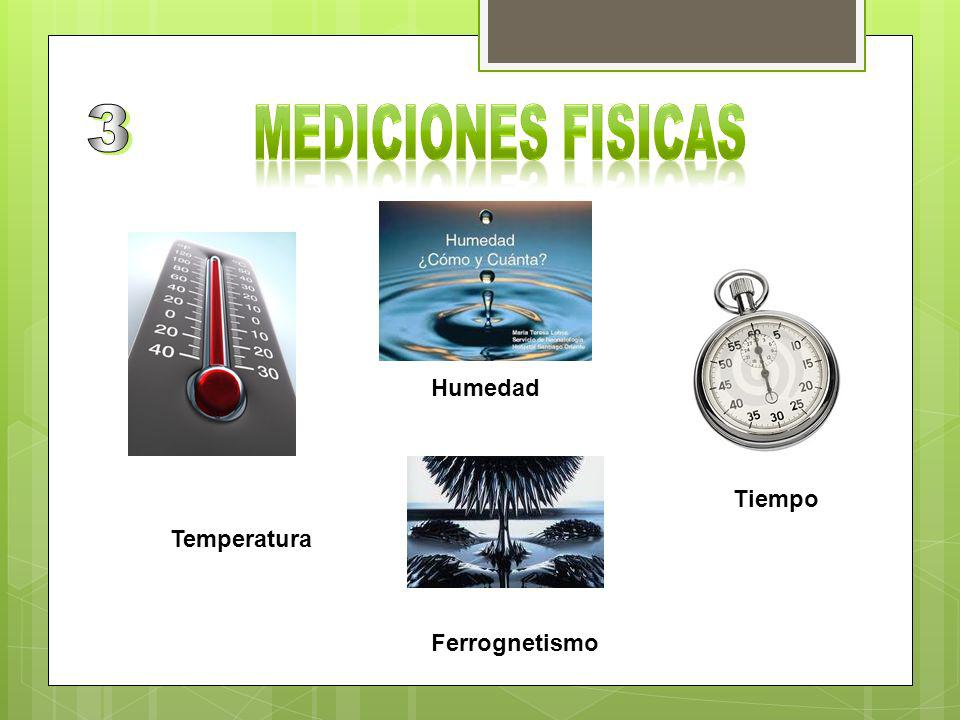 3 MEDICIONES FISICAS Humedad Tiempo Temperatura Ferrognetismo