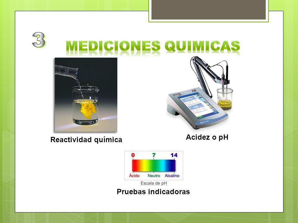 3 MEDICIONES QUIMICAS Acidez o pH Reactividad química