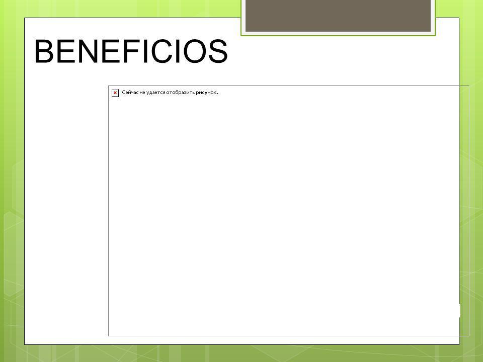 BENEFICIOS Es compatible con ISO Fomenta la acreditación