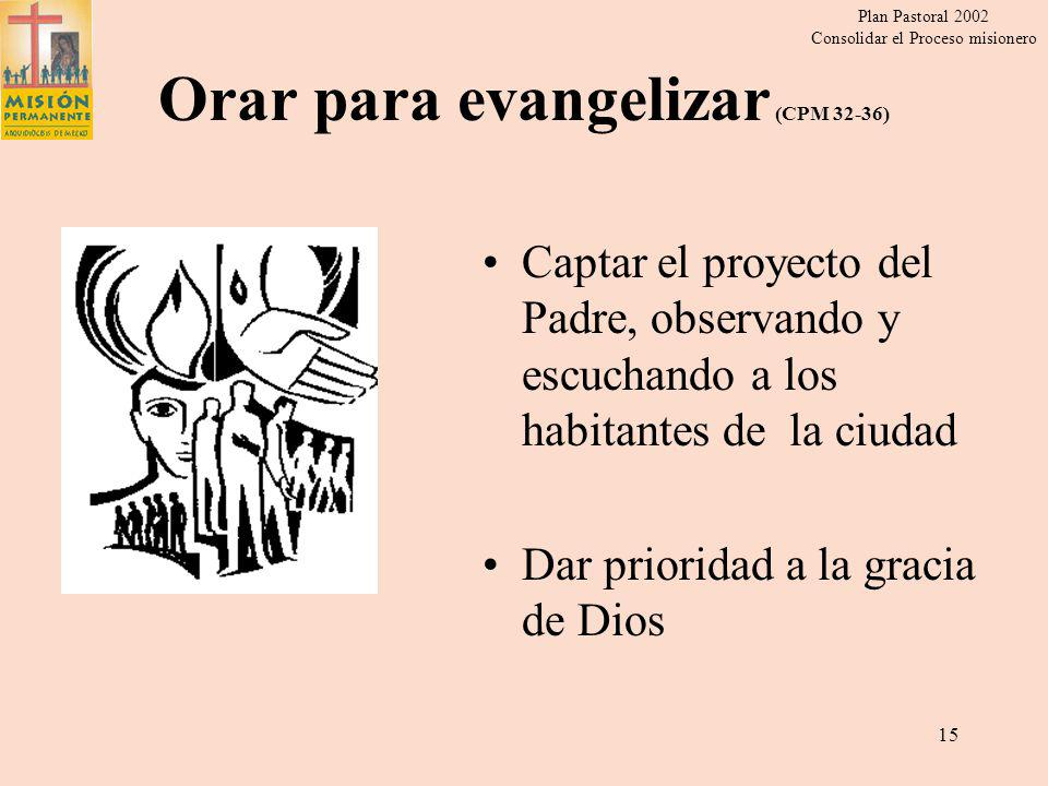 Orar para evangelizar (CPM 32-36)