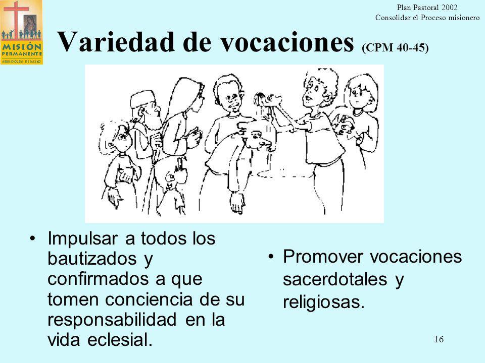 Variedad de vocaciones (CPM 40-45)