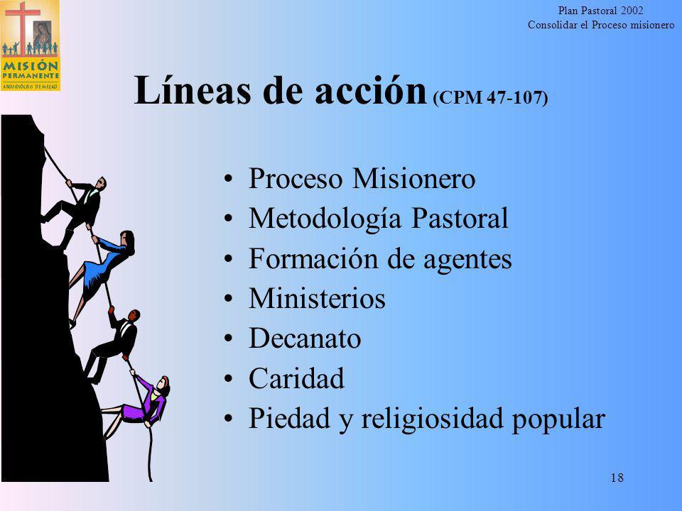 Líneas de acción (CPM 47-107)